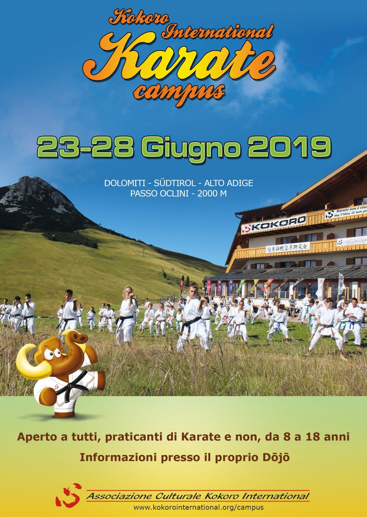 Kokoro International Karate Campus 2019: Quest'anno a giugno!