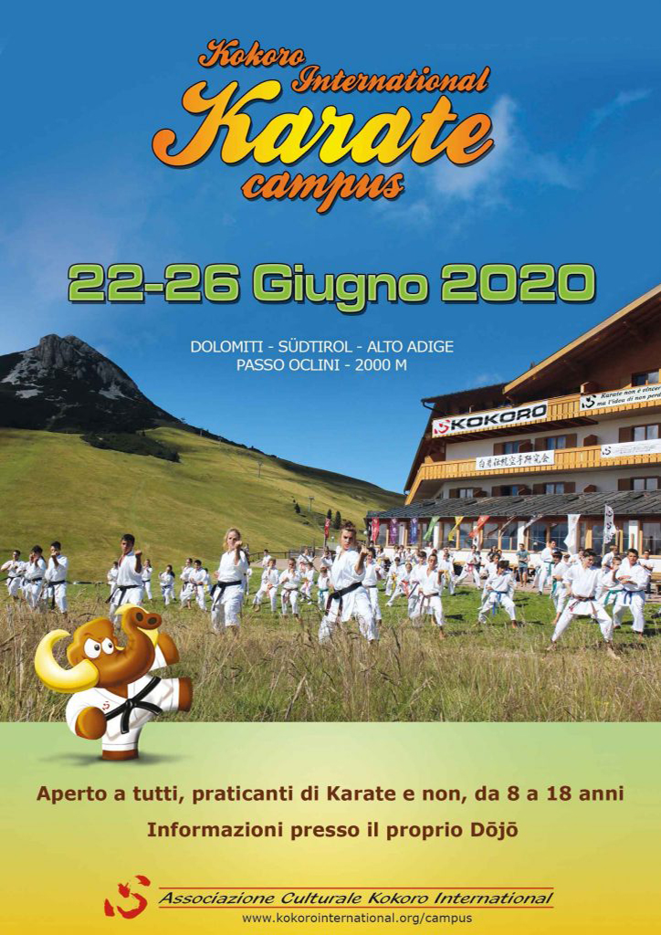 Kokoro International Karate Campus 2020: Aperte le Preiscrizioni