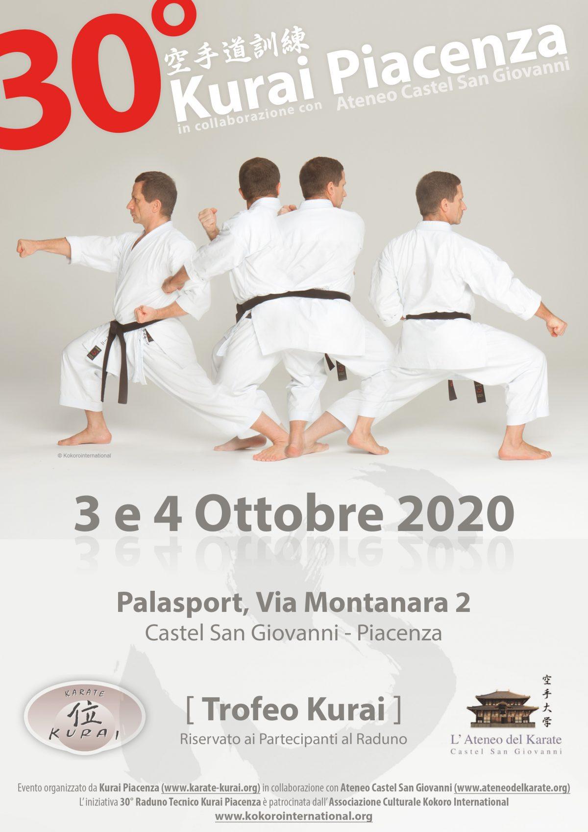 Kurai Karatedo Kunren 2020: Cambio data (aggiornamento 16/05/2020)
