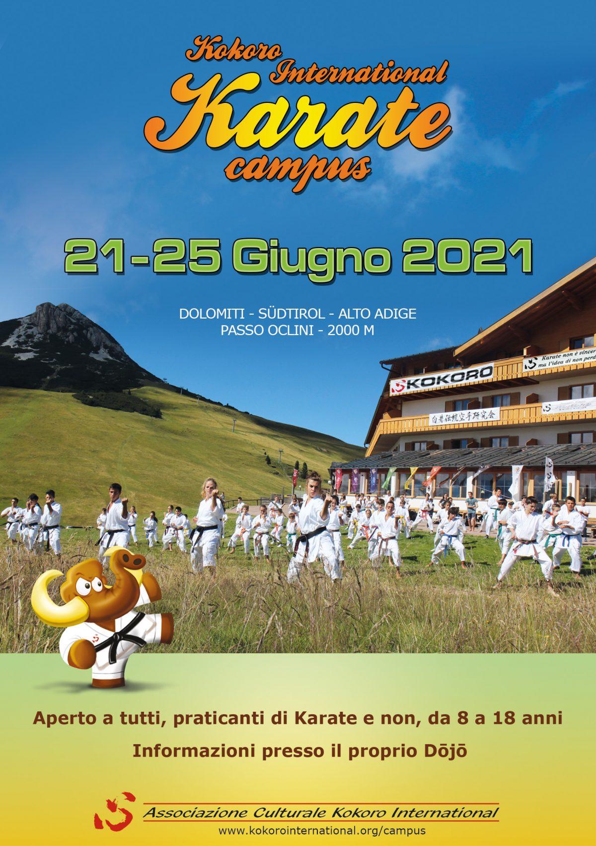 Kokoro International Karate Campus: Posticipato al 2021